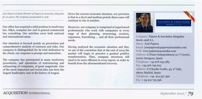 "Magazine ""Acquisition International, The Voice of Corporate Finance"""