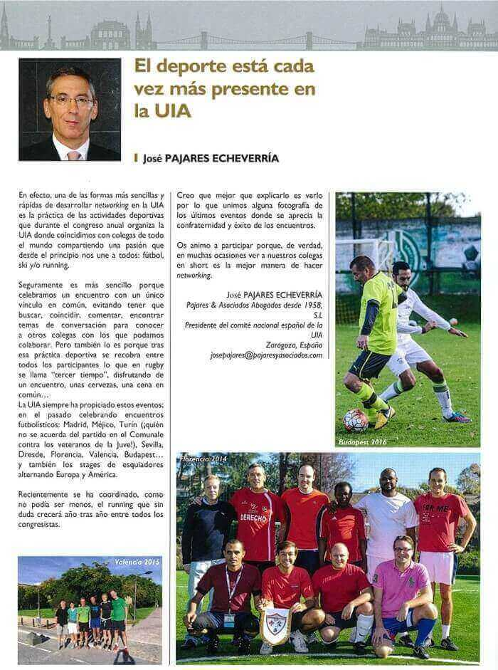 SPORTS ACTIVITIES IN THE UIA