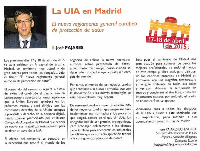 LA UIA EN MADRID