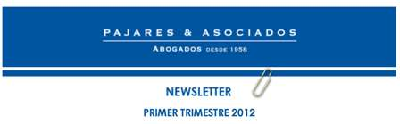 NEWSLETTER PRIMER TRIMESTRE 2012