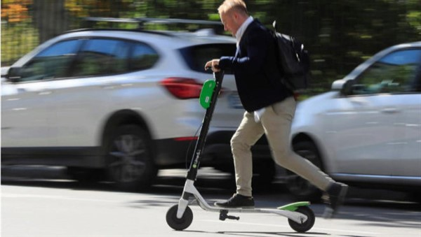 Who is responsible for an accident with a scooter?