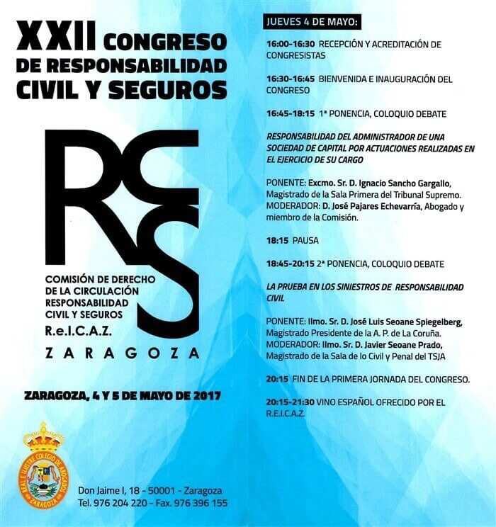 XXII CONGRESS OF CIVIL LIABILITY AND INSURANCE